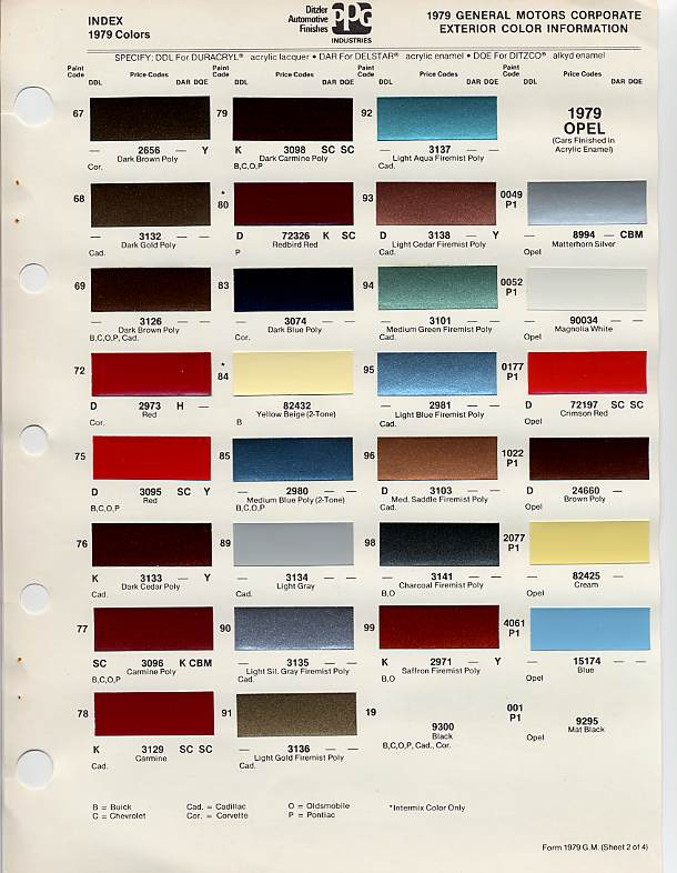 1976 Cadillac Seville Paint Color