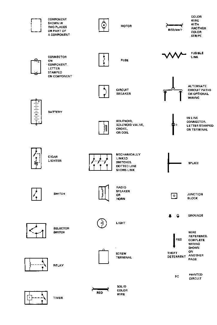 76 To 79 Cadillac Seville Home Page Set 3 Light Wire Schematic Symbols